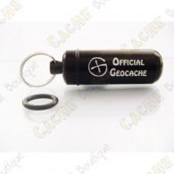 "Micro capsule ""Official Geocache"" 5 cm - Black"