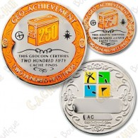 Geo Achievement® 250 Finds - Coin + Pin