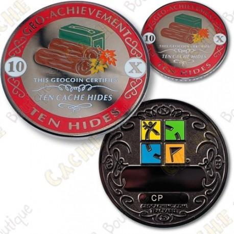 Geo Achievement 10 Hides - Coin + Pin