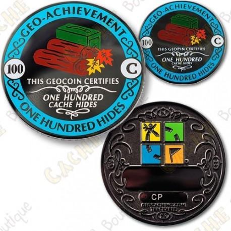 Geo Achievement 100 Hides - Coin + Pin