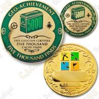 Geo Achievement® 5000 Finds - Coin + Pin