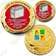 Geo Achievement® 6000 Finds - Coin + Pin