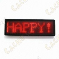 Scrolling LED badge
