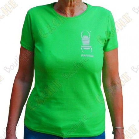 "Trackable ""Travel Bug"" T-shirt for Women - Green"