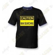 """T-Shirt """"Caution"""" Homens - Negro"""