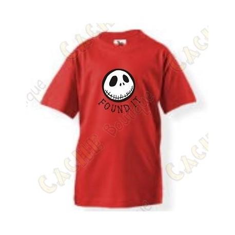 """T-Shirt """"Found it"""" Criança - Vermelho"""