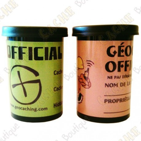 """Cache """"film canister"""" - Negro"""