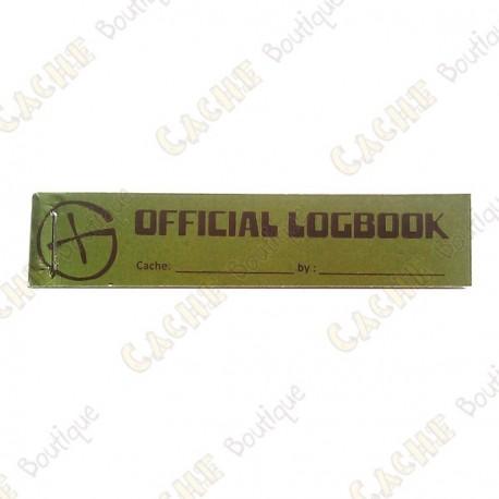 "Pequeno logbook ""Official Logbook"" PET"