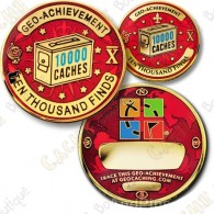 Geo Achievement® 10 000 Finds - Coin + Pin