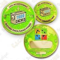 Geo Achievement® 11 000 Finds - Coin + Pin