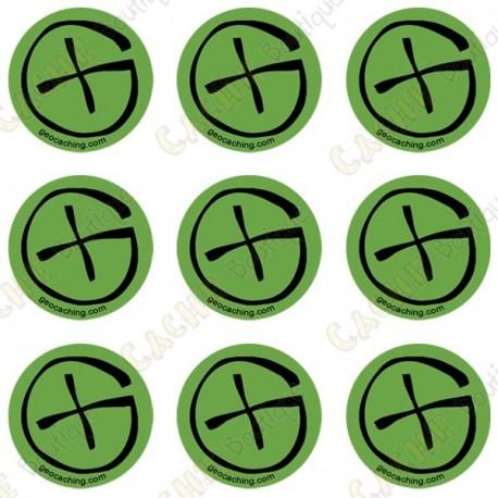 """Sticker Geo """"Round X-Small"""" - Pack of 9"""