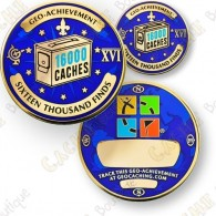 Geo Achievement® 16 000 Finds - Coin + Pin