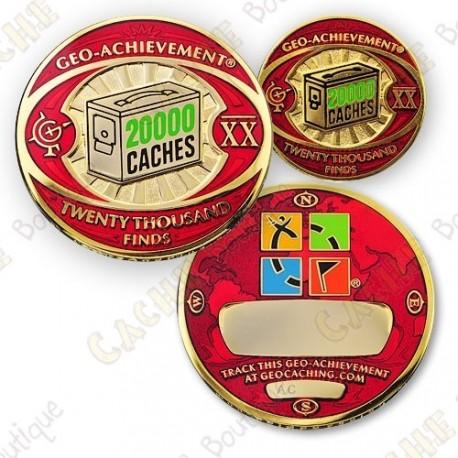 Geo Achievement® 20 000 Finds - Coin + Pin