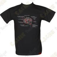 """T-Shirt """"Geo Brain"""" Homens - Negro"""