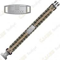 Bracelete Paracord Trackable - Geocaching - Khaki / Bege