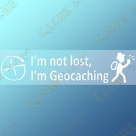 "Sticker ""I'm not lost, I'm Geocaching"""