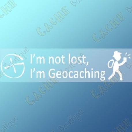 "Sticker ""I'm not lost, I'm Geocaching"""