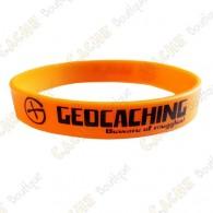 Pulseira de silicone Geocaching - Cor de laranja