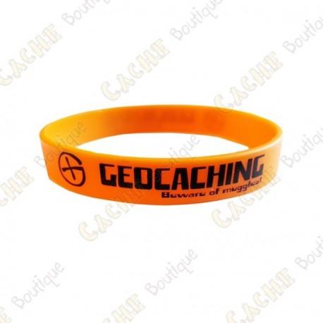 Pulseira de silicone Geocaching crianças - Cor de laranja