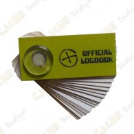Little logbook, which can be placed in film canister caches.