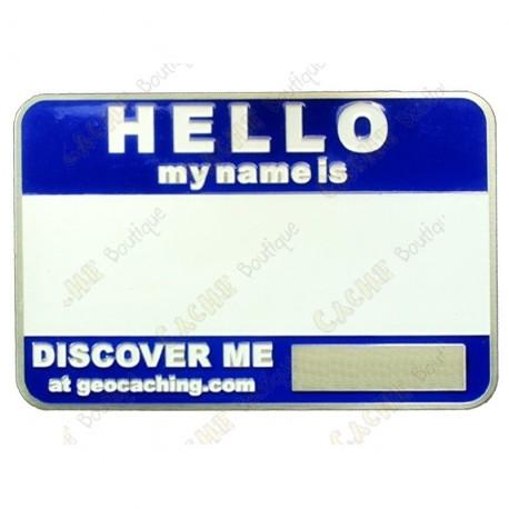 Name tag trackable - Azul