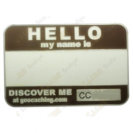 Name tag blank - Marrom