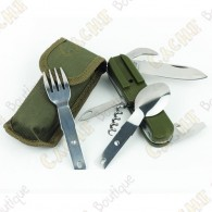 Folding knive spoon and fork multifunctional - Army