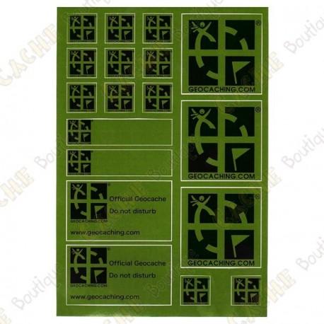 Placa adesivos Geocaching - Verde