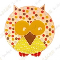 "Geocoin ""Dotted Owl"" - Autumn - Copper LE"