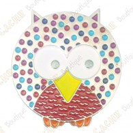 "Geocoin ""Dotted Owl"" - Pep's - Black Nickel LE"
