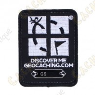 Black Geocaching Logo Trackable Patch