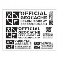 "Estêncil ""Official Geocache"" - Groundspeak"