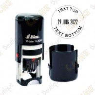 Carimbo datador redondo customizáveis - 24mm