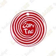 Copy Tag - Geocoin/Double tag - Vermelho