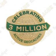 """Geocoin """"3 Milhões Geocaches"""" - Gold"""