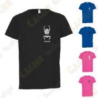 T-shirt técnica trackable com seu Apelido, Criança