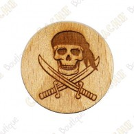Wooden coin - Pirate