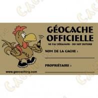 Sticker para caches 100% francófono