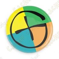 Geocaching button - Quadri