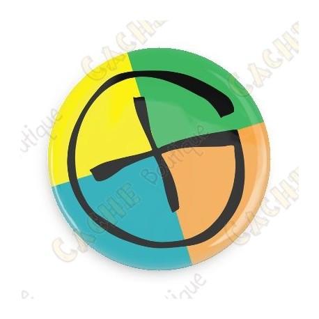 Badge Geocaching - Quadricolor