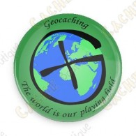 Crachá Geocaching - World is our playing field