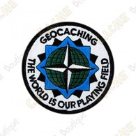 Geocaching round patch - The World is our Playing Field