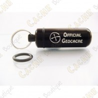 "Micro capsule ""Official Geocache"" 5 cm - Black"