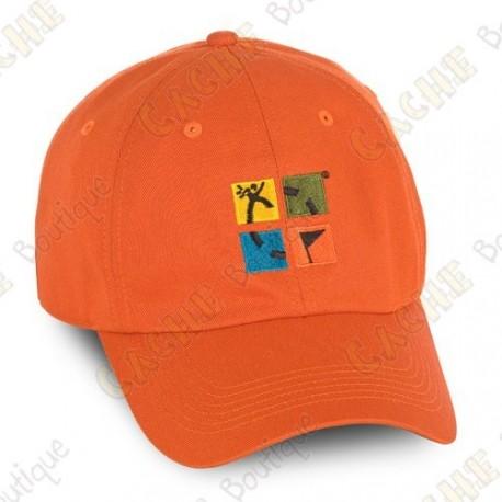 Casquette logo Groundspeak - Orange