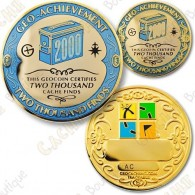Geo Achievement® 2000 Finds - Coin + Pin
