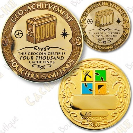 Geo Achievement 4000 Finds - Coin + Pin