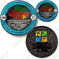 Geo Achievement® 100 Hides - Coin + Pin's