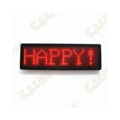 Scrolling LED badge