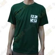 "T-Shirt ""Discover me"" Trackable Homme - Vert"