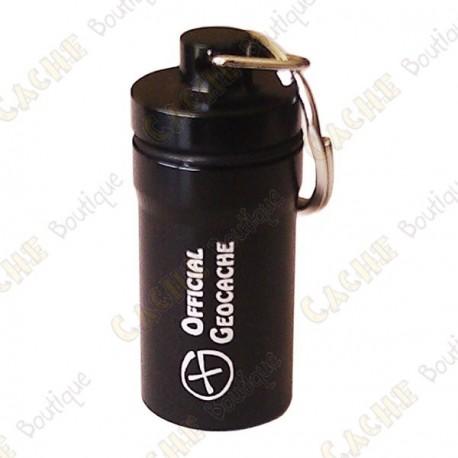 """Micro cache """"Official Geocache"""" 5,2 cm - Noire"""